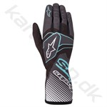 Alpinestars Tech-1 K Race v2 Carbon handske, sort/turquoise, Str. S-XXL