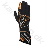 Alpinestars Tech 1-KX handske, sort/orange fluo, Str. S-XXL
