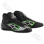 Alpinestars Tech-1 KX sko, sort/grøn fluo, str. 34-47
