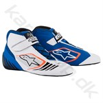 Alpinestars Tech-1 KX sko, blå/hvid/orange fluo, str. 34-47