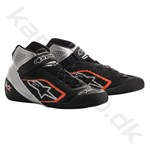 Alpinestars Tech-1 KZ sko, sort/sølv/orange fluo, str. 34-47