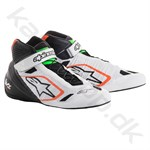 Alpinestars Tech-1 KZ sko, hvid/sort/orange fluo/grøn fluo, str. 34-47