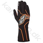 Alpinestars Tech-1 K v2 handske, sort/orange fluo, str. S-XXL