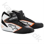Alpinestars Tech 1-T sko, sort/hvid/orange fluo, str. 37-47