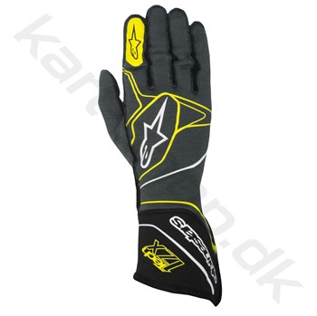 Alpinestars Tech 1ZX handske, anthracite/sort/gul fluo, Str. S - XXL